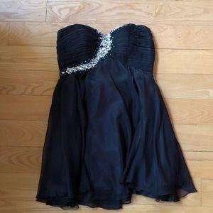 Black Sequin Semi Formal Dress